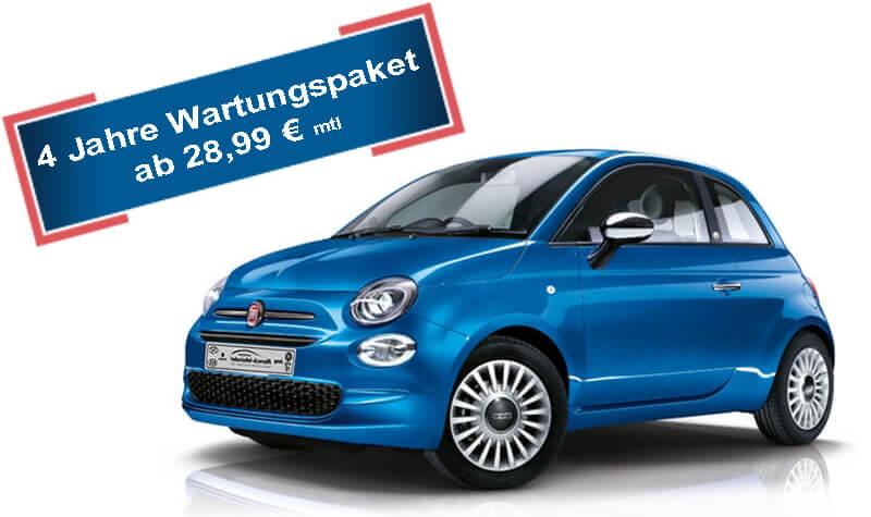 Fiat 500 Hybrid blau