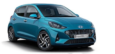 Hyundai i10 hellblau