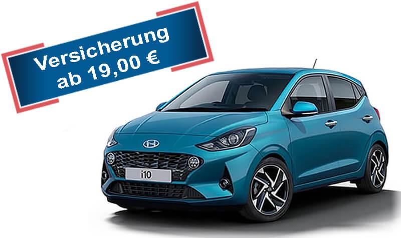 Hyundai i10 blau